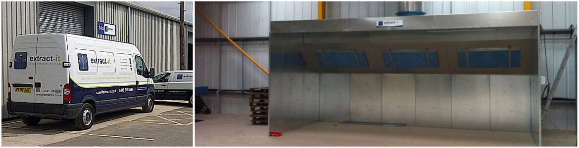 Dryback spray booths