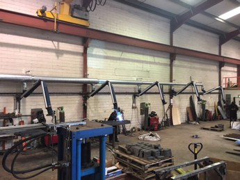 welding extraction arms